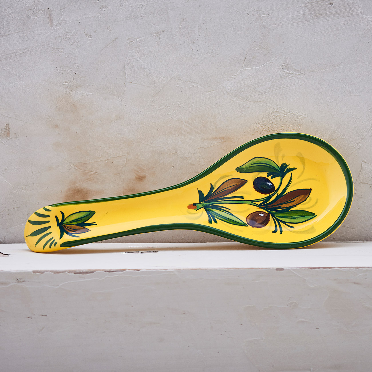 Yellow Olive Tree Spoon holder 1
