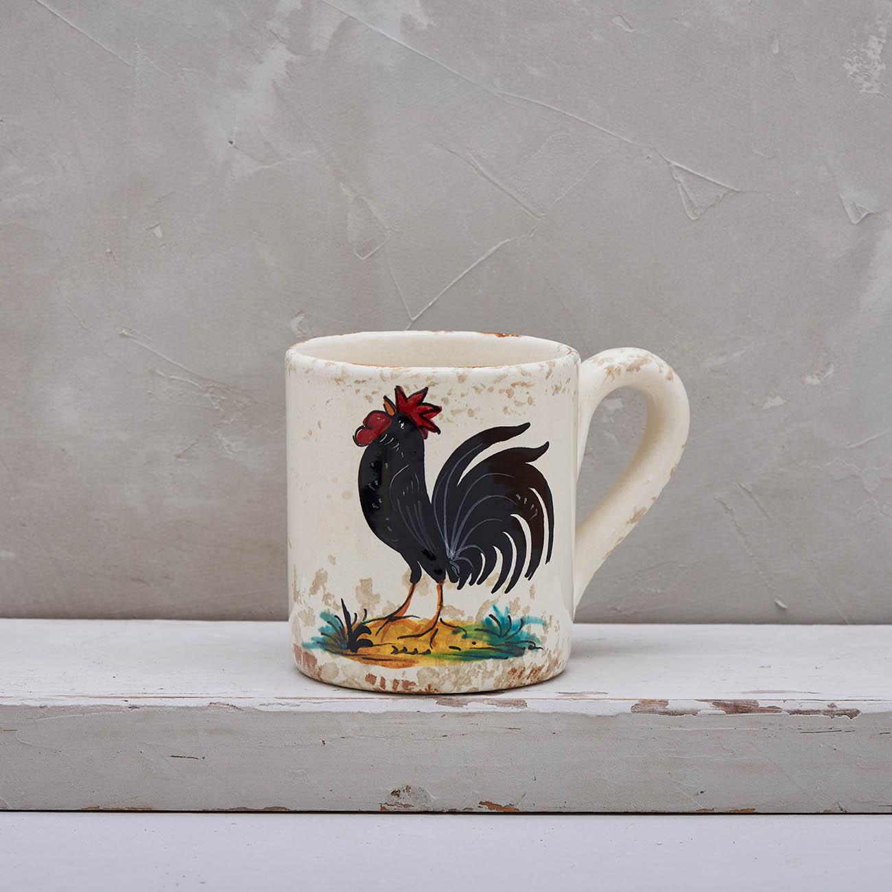 Black Rooster mug 1