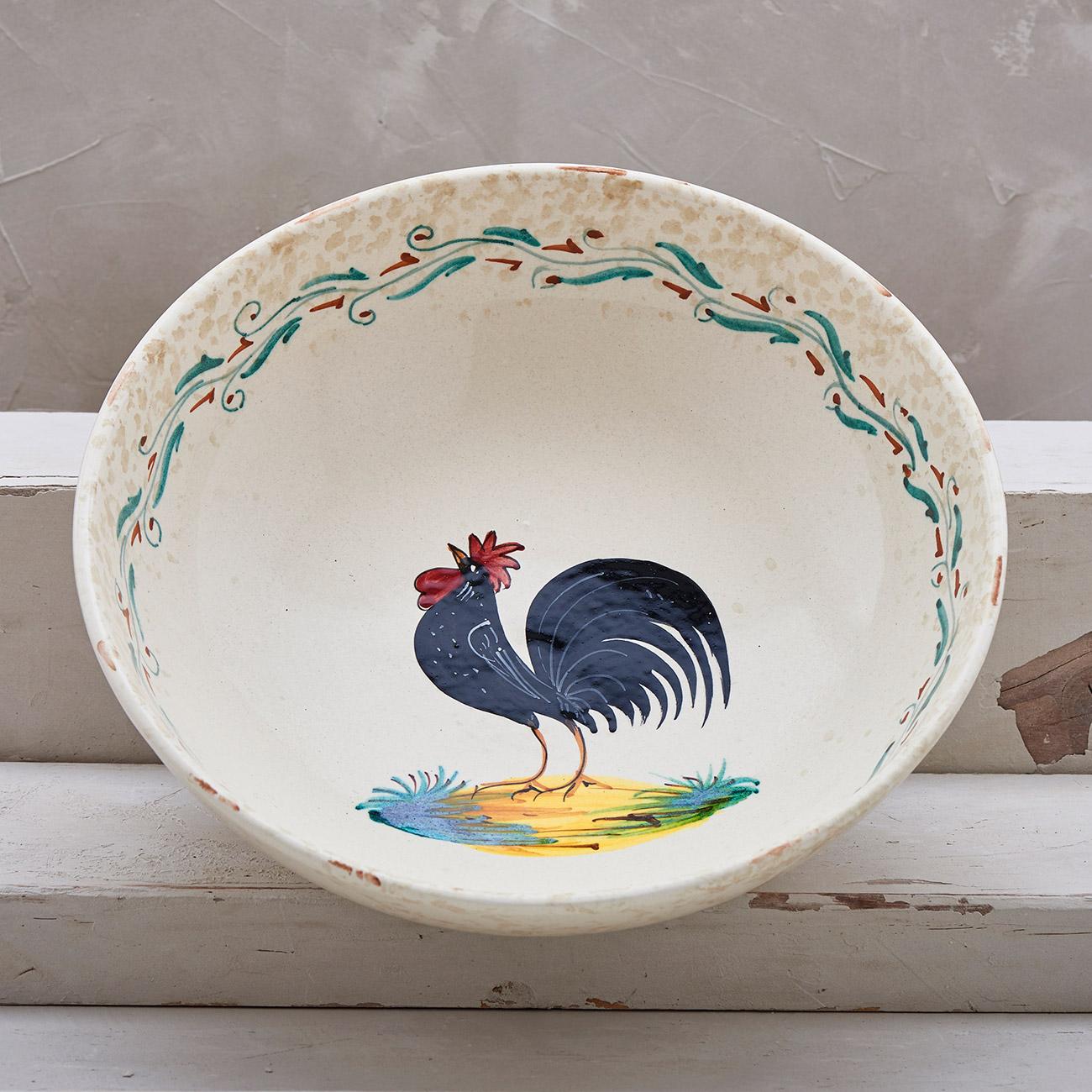 Black Rooster Bowl - 25 cm 1