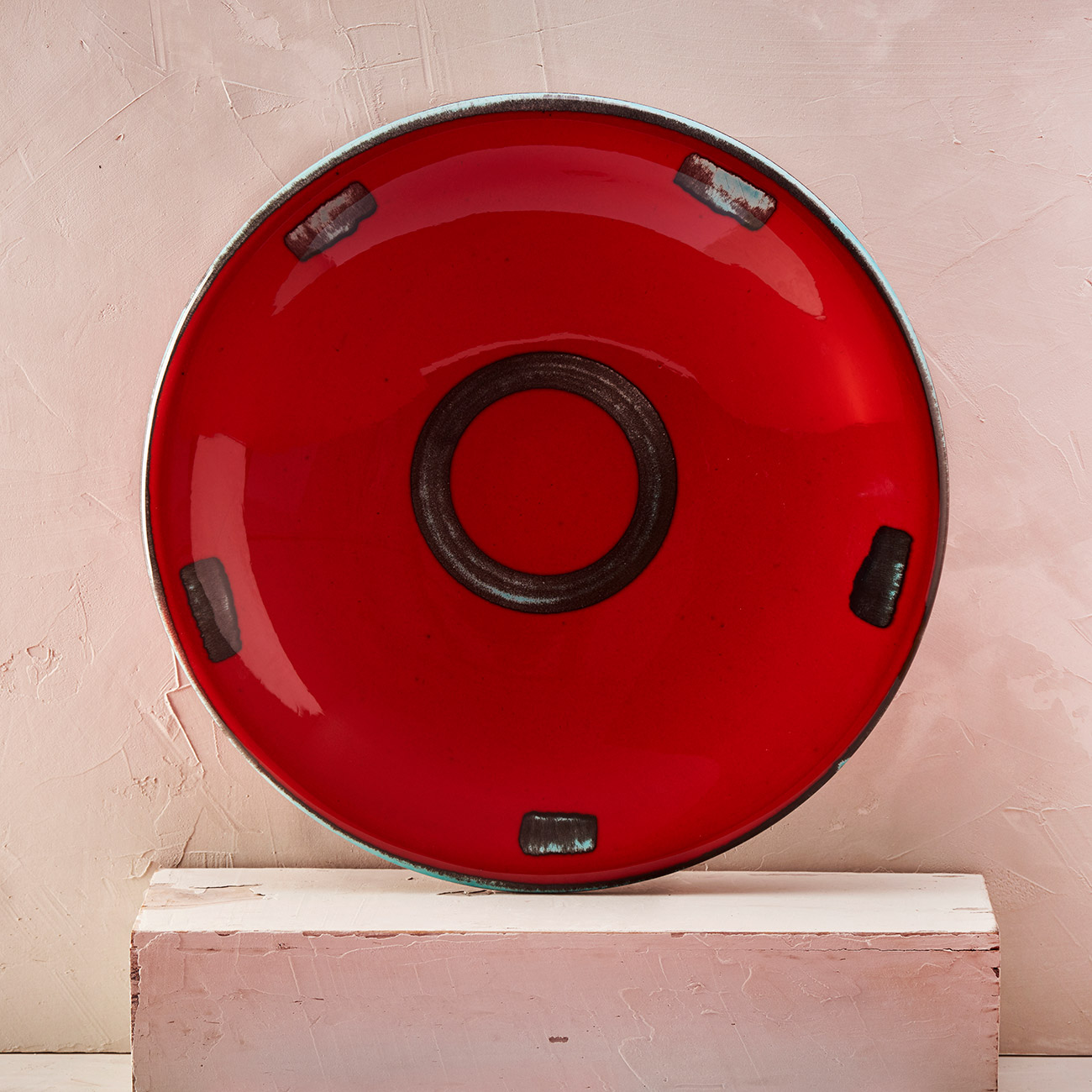 Red Circle Plate - 34 cm 1