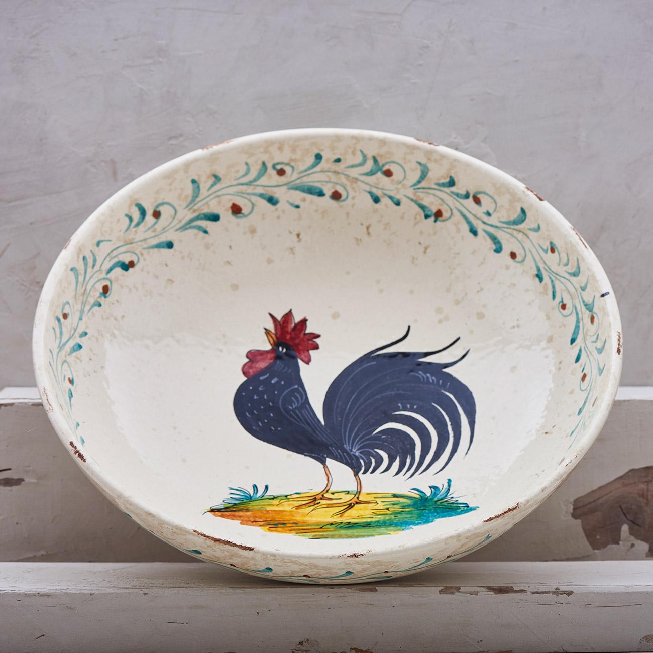 Black Rooster Bowl - 30 cm 1