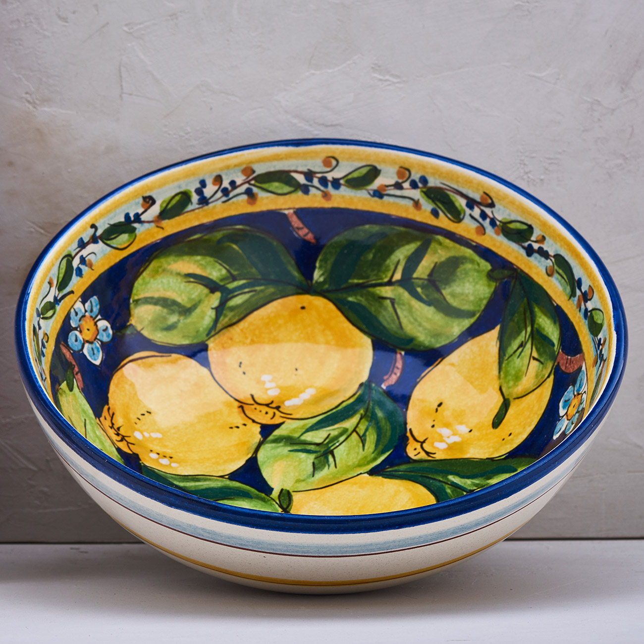 Lemon Bowl Blue background - 30 cm 1