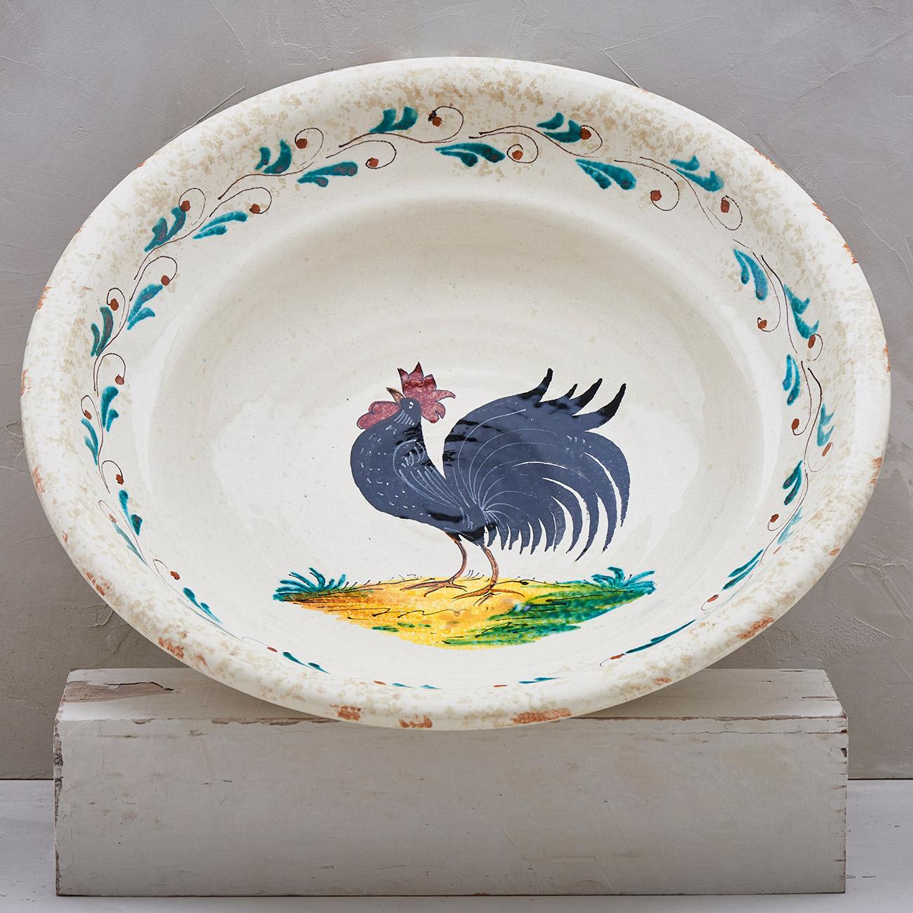 Black Rooster Bowl - 40 cm 1