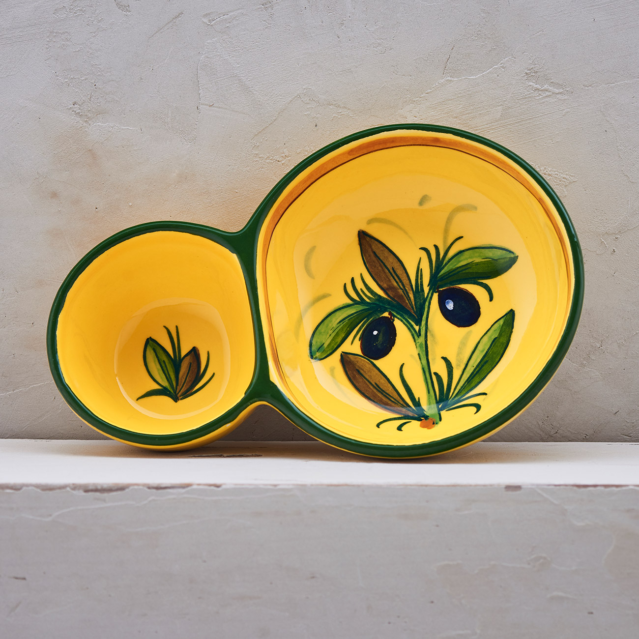 Yellow Olive Tree Bowl for olives 1
