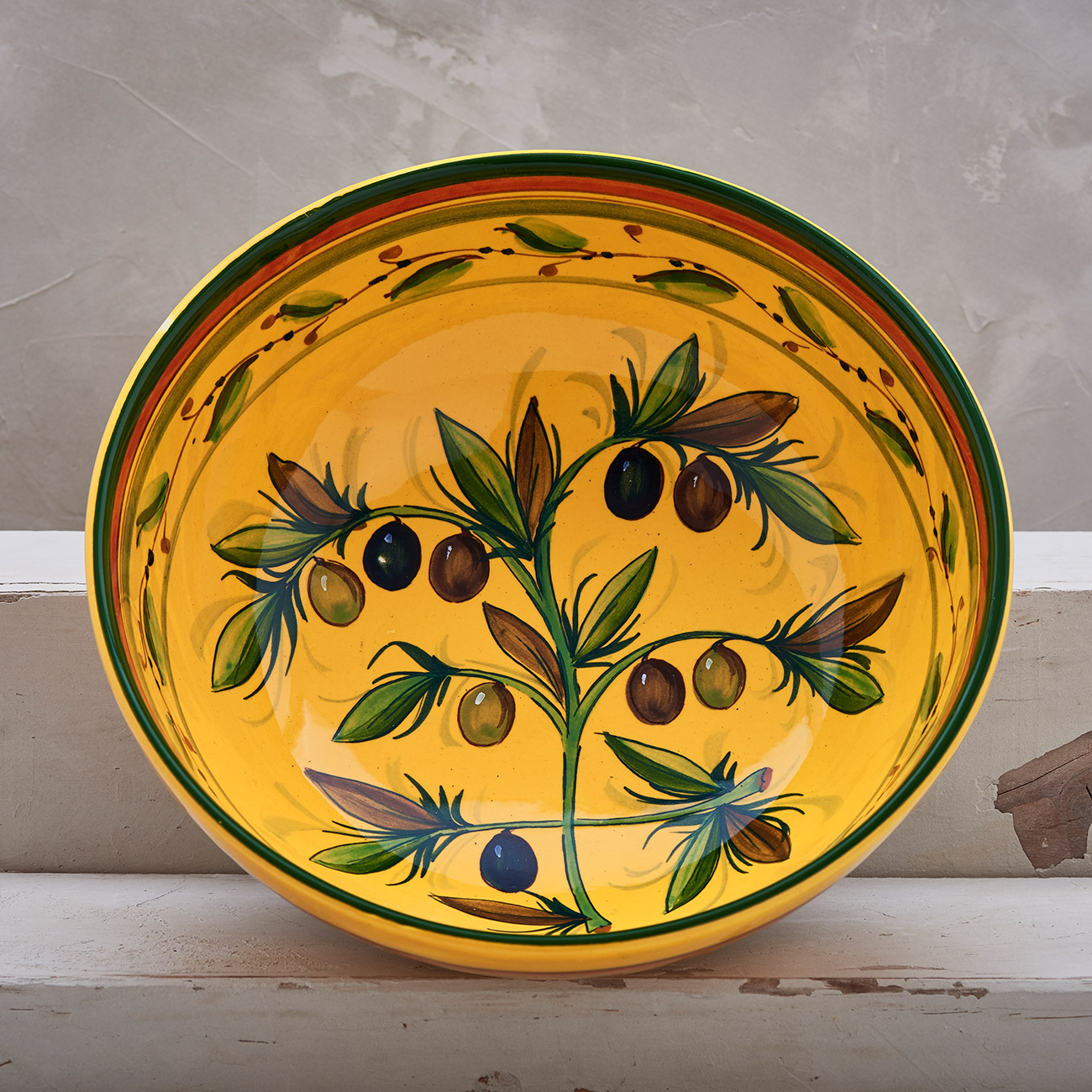 Yellow Olive Tree Bowl 25 cm 1