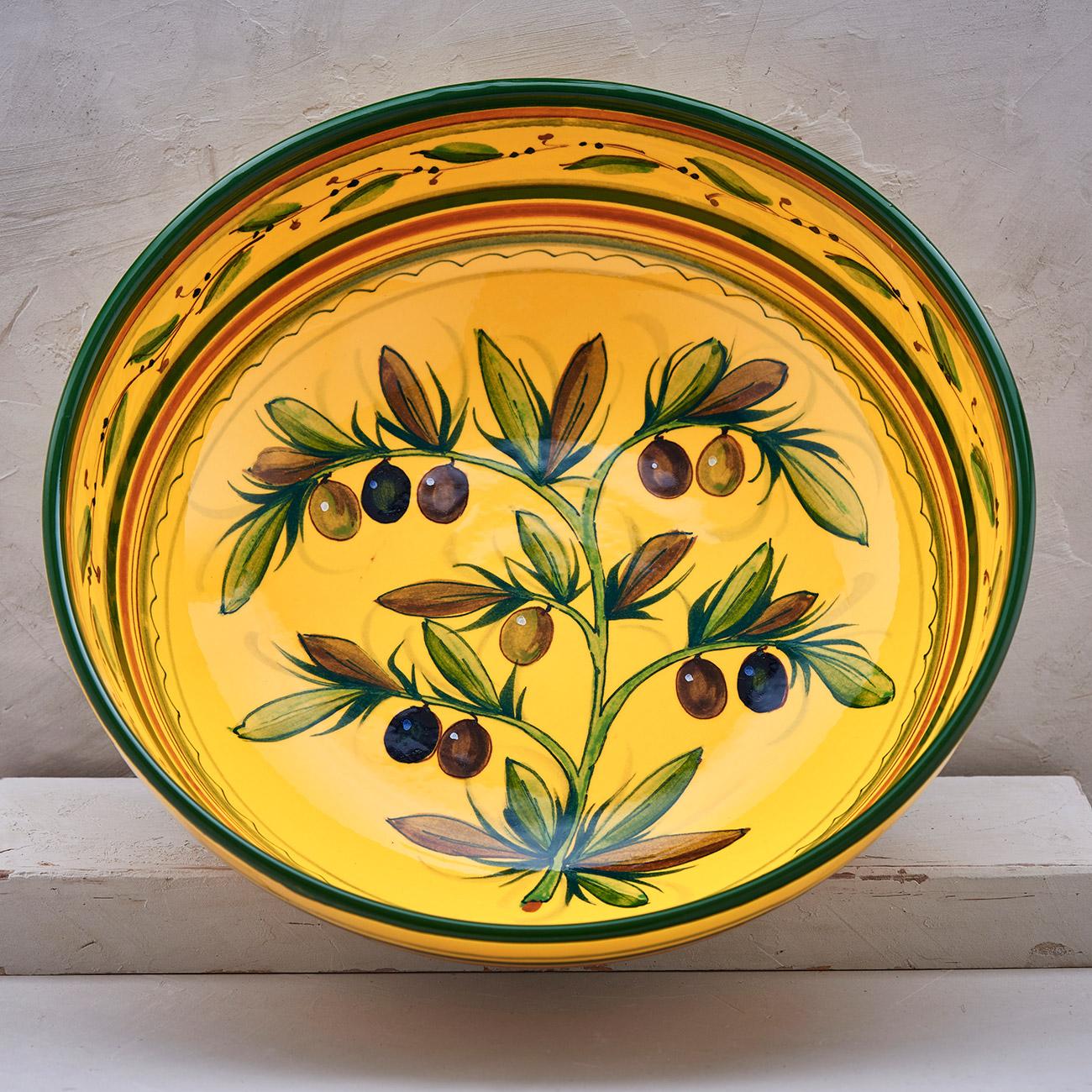 Yellow Olive Tree Bowl 30 cm 1