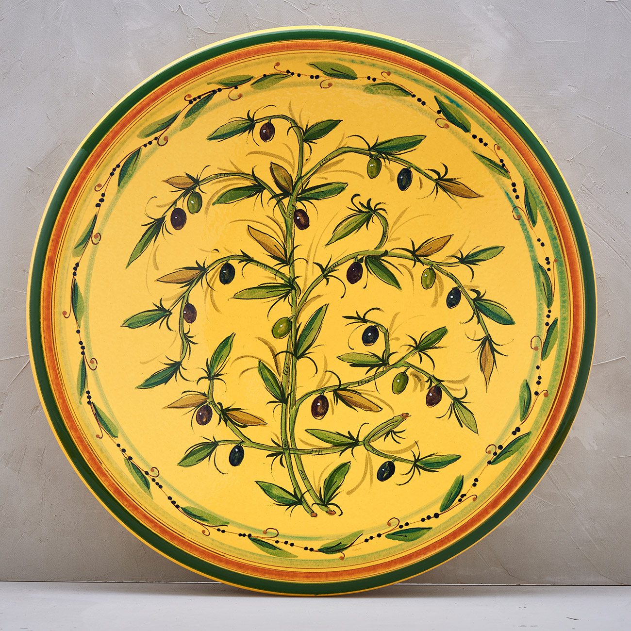 Yellow Olive Tree Plate - 52 cm 1