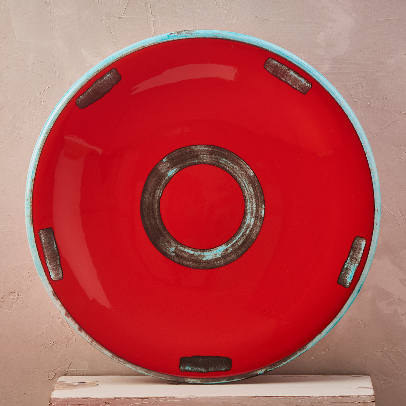 Red Circle Plate - 42 cm 1