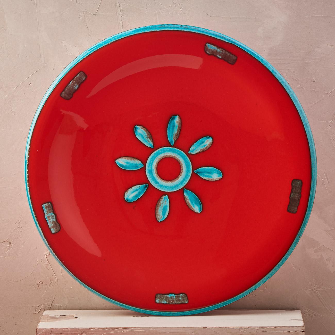 Red Sun Plate - 42 cm 1