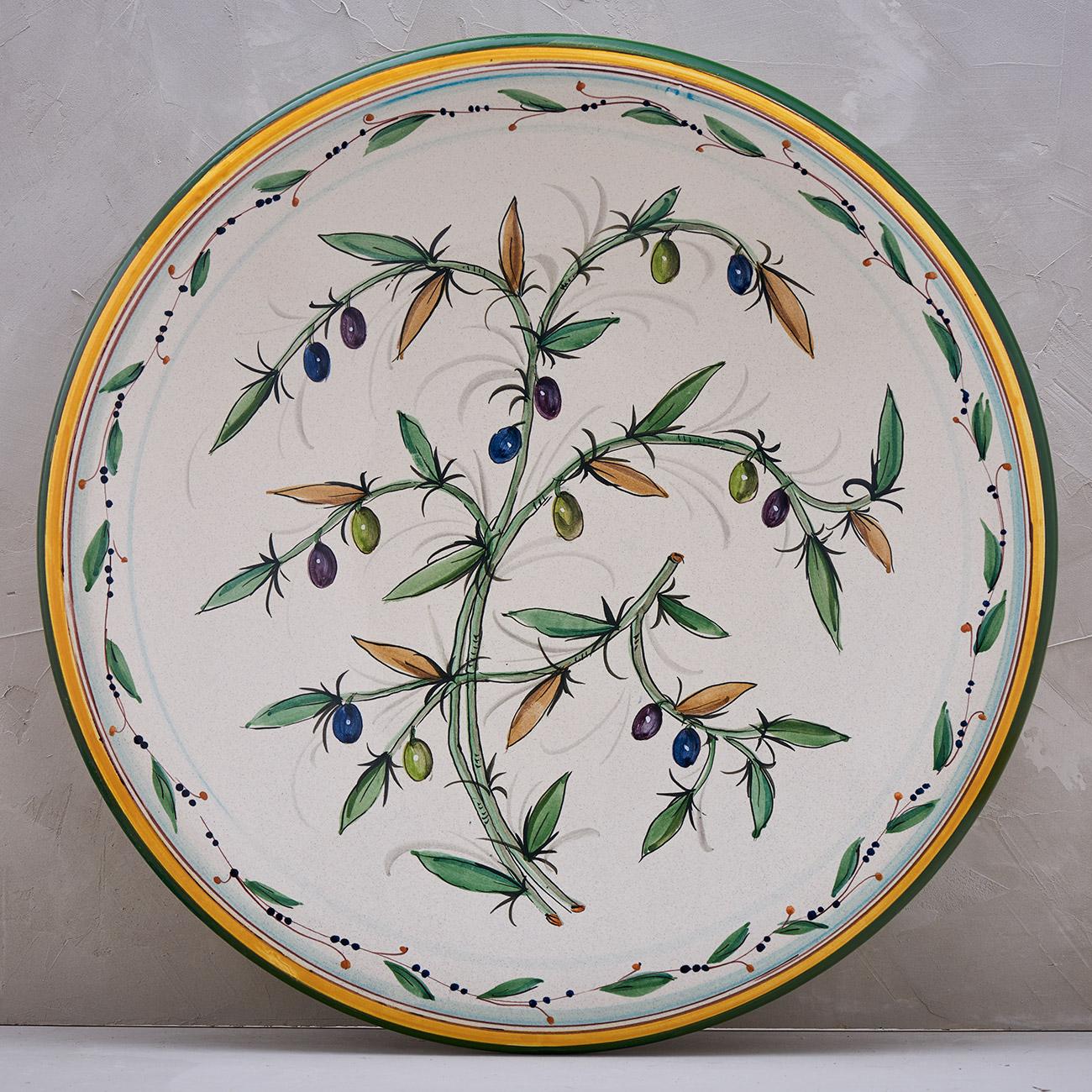 White Olive Tree Plate - 52 cm 1