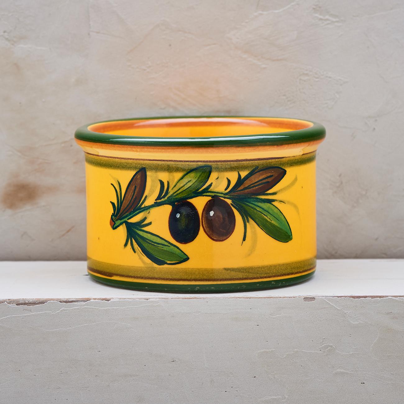Yellow Olive Tree Bottle Holder