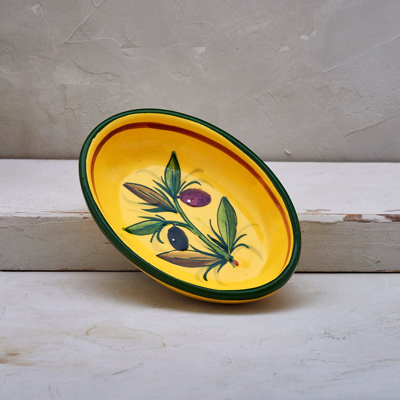Yellow Olive Tree Oval bowl 1