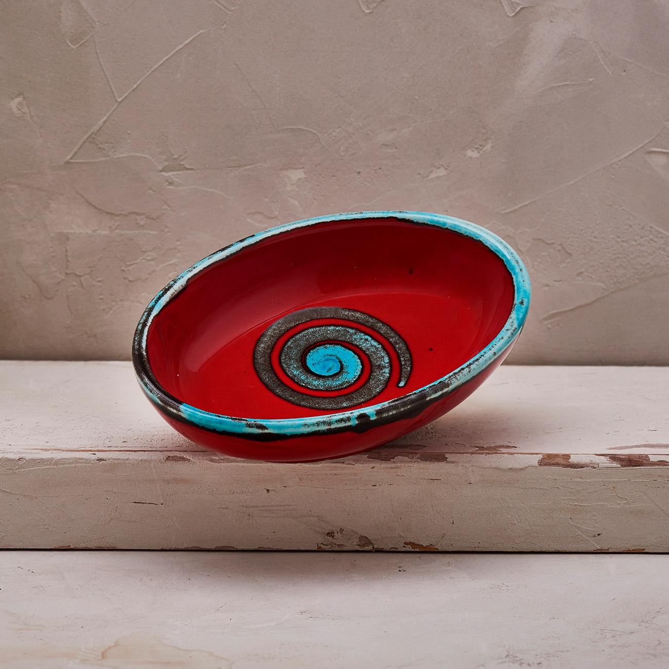 Red Spiral Soap holder 1