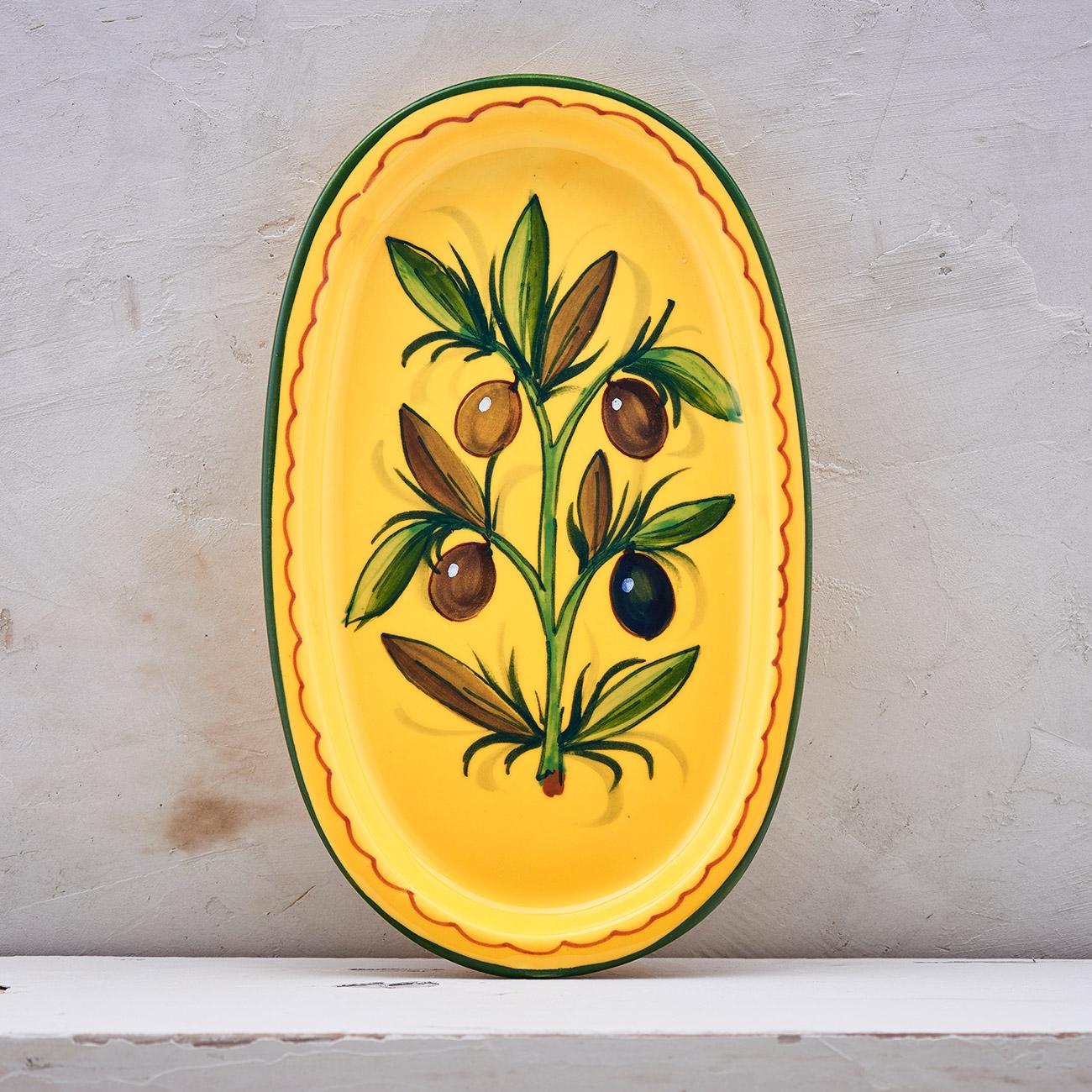 Yellow Olive Tree Tray - 22 x 13 cm