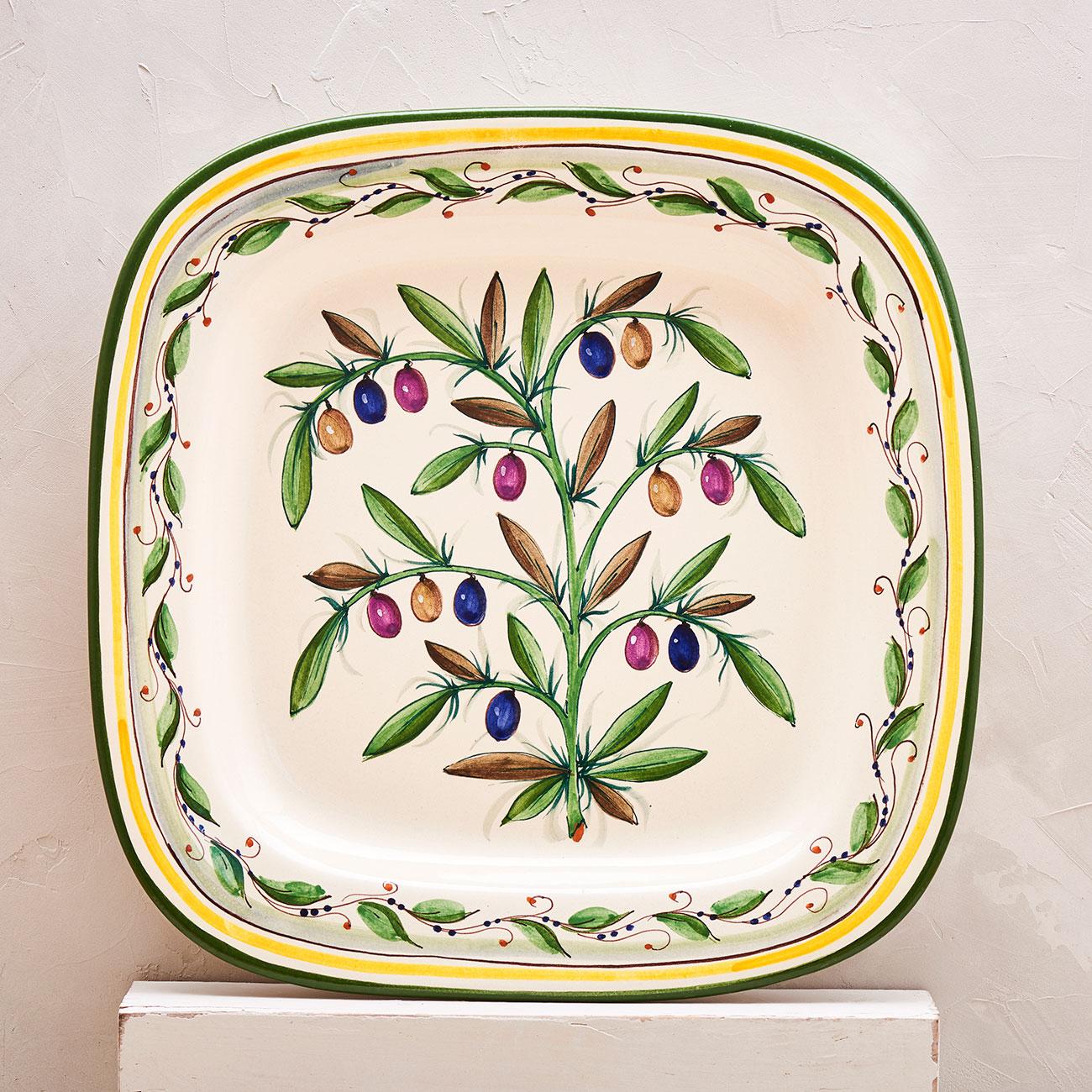 White Olive Tray - 40 x 40 cm 1