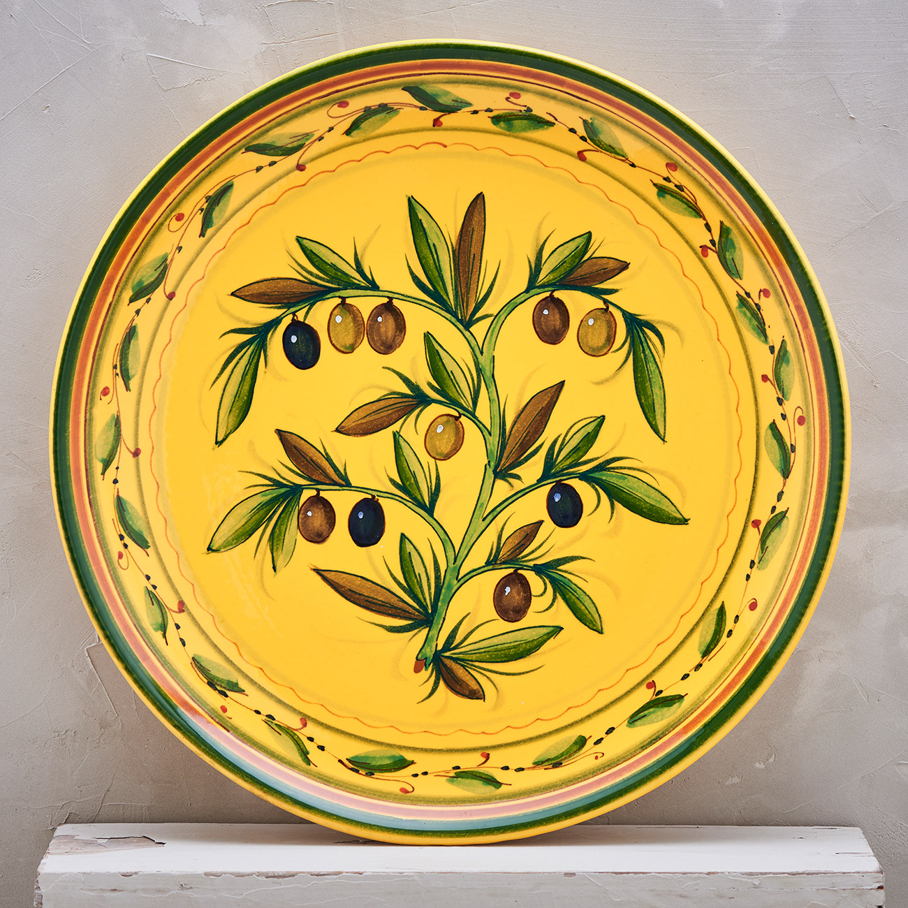 Yellow Olive Tree Plate - 35 cm 1