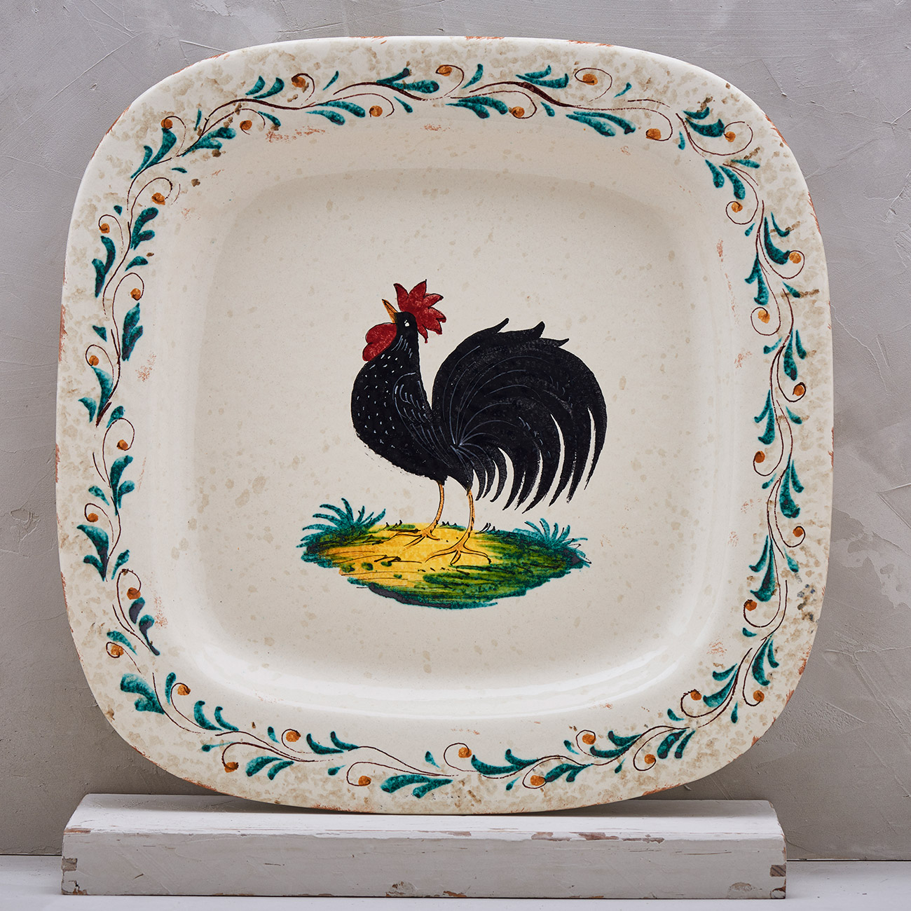Black Rooster Tray - 40 x 40 cm 1