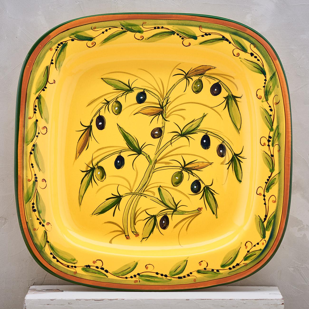 Yellow Olive Tree Tray - 40 x 40 cm