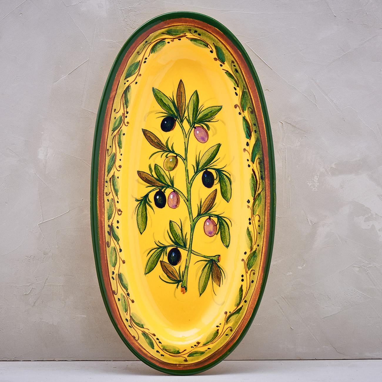 Yellow Olive Tree Tray - 42 x 21 cm