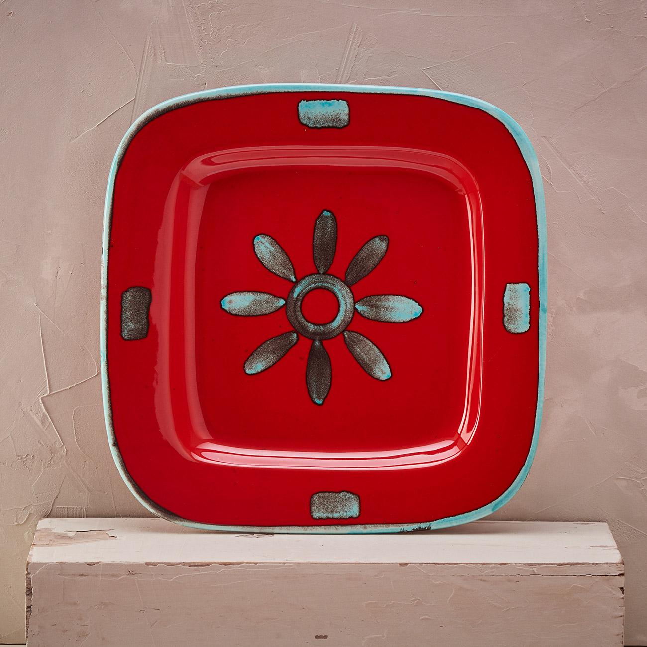 Red Sun Tray - 28 × 28 cm 1