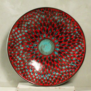 "Alzata Rossa ""Gocce"" - 52 cm"