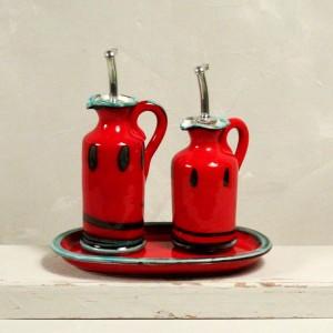 Set Rosso olio & aceto - 15/13 cm