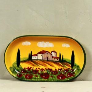 Vassoio Paesaggio giallo - 21 x 13 cm