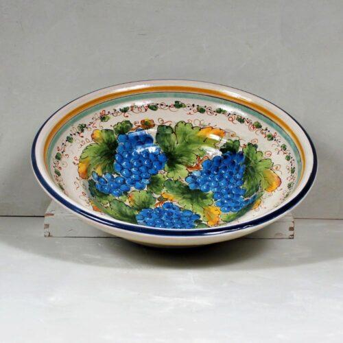 Blue Grapes Bowl - 40 cm