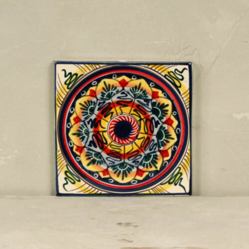 Geometric flower Tile - 20 x 20 cm