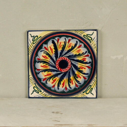 Geometric sun Tile - 20 x 20 cm