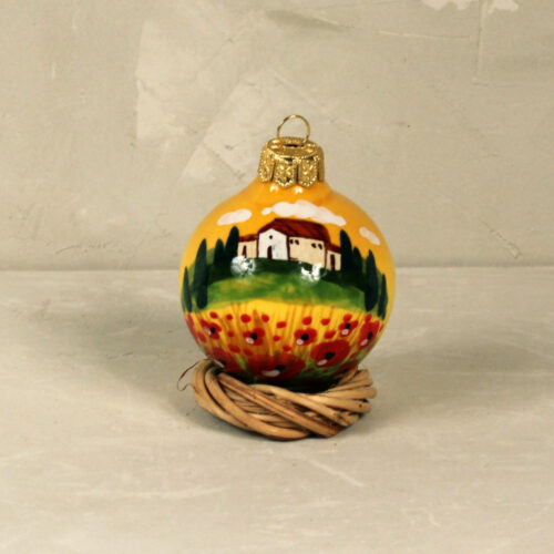 Landscape Christmas ball - 6,5 cm