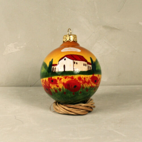 Landscape Christmas ball - 8 cm