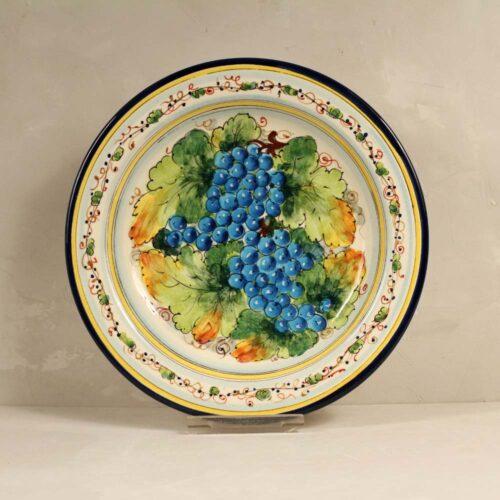 Blue Grapes Plate - 31 cm