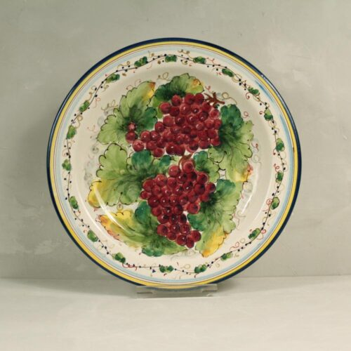 Red Grapes Plate - 31 cm