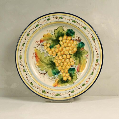 Yellow Grapes Plate - 31 cm