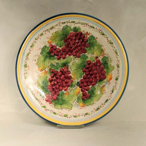 Red Grapes Plate - 41 cm