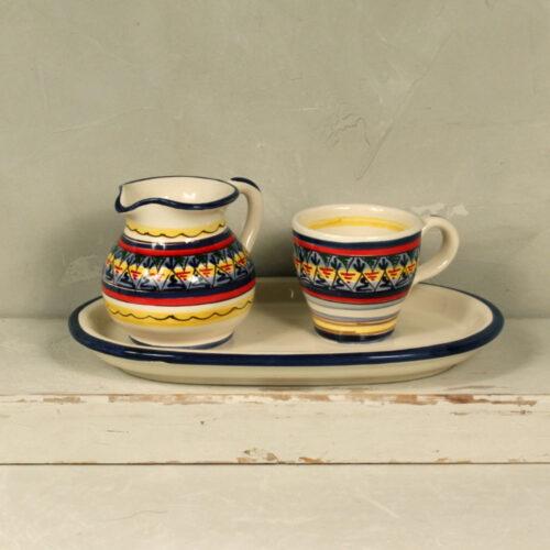 Set Geometric Cup & Milk Jug
