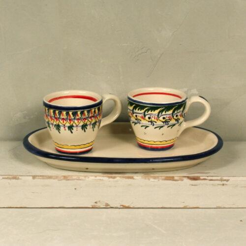 Set Geometric Coffee Cups