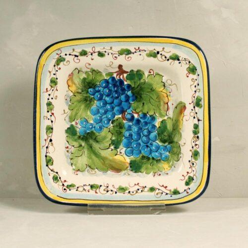 Blue Grapes Tray - 22 x 22 cm