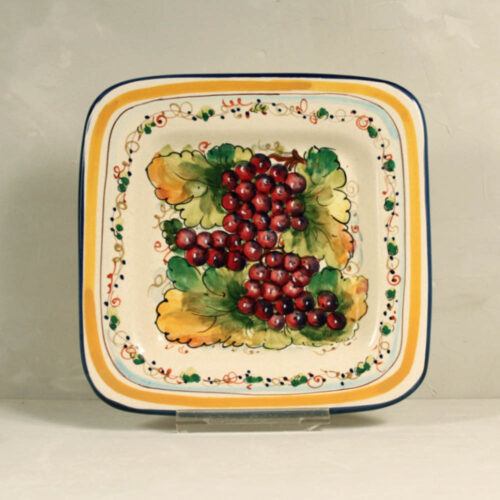 Red Grapes Tray - 22 x 22 cm