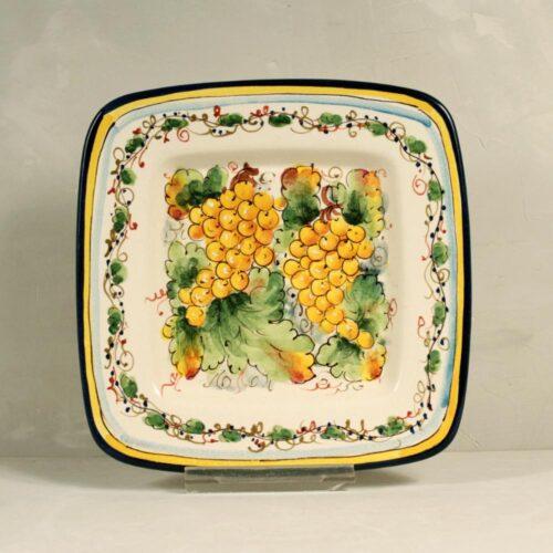 Yellow Grapes Tray - 22 x 22 cm