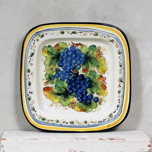 Blue Grapes Tray - 28 x 28 cm