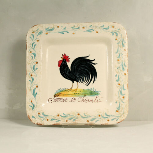 Black Rooster Tray - 30 x 30 cm