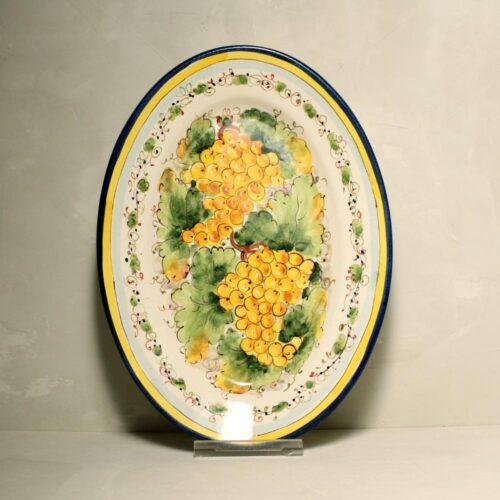 Yellow Grapes Tray - 36 x 26 cm