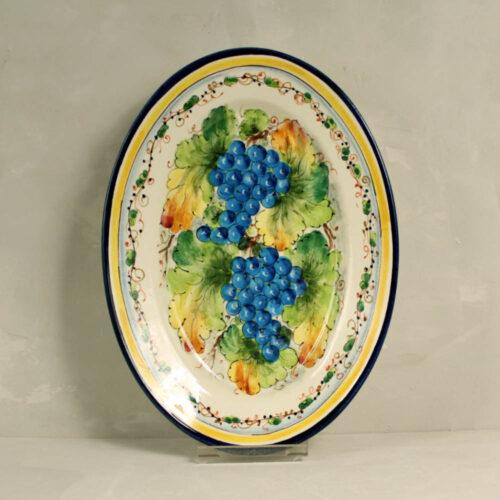 Blue Grapes Tray - 36 x 26 cm