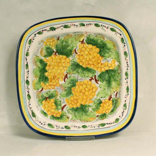 Yellow Grapes Tray - 40 x 40 cm