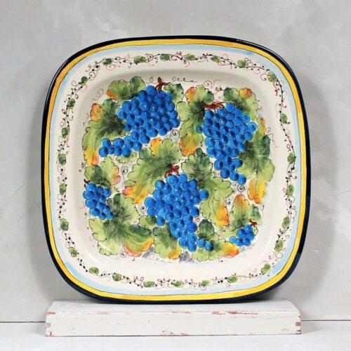Blue Grapes Tray - 40 x 40 cm